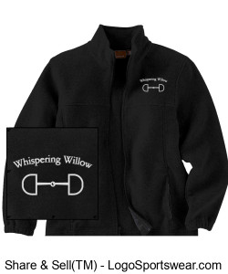 Youth 8 oz. Full-Zip Fleece- Embroidered Design Zoom