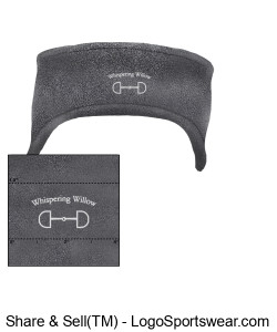 R-Tek Stretch Fleece Headband- Embroidered Design Zoom