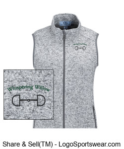 Women's Summit Sweater Fleece Vest- Embroidered Design Zoom