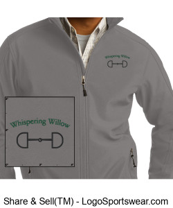 Men's Core Soft Shell Jacket- Embroidered Design Zoom