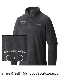 Men's Columbia Steen's Mountain Quarter-Zip Fleece- Embroidered Design Zoom