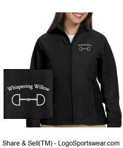 Ladies 8 oz. Full-Zip Fleece- Embroidered Design Zoom