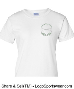 Gildan Ladies Ultra Cotton T-shirt- Printed Design Zoom